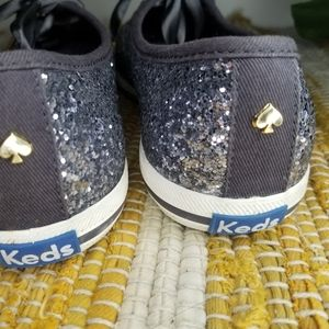 Keds Shoes - Kate Spade x Keds Champion Glitter Sneakers Grey